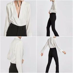b592ac65 Zara Bodysuit w/ Lapel Collar (NWOT)